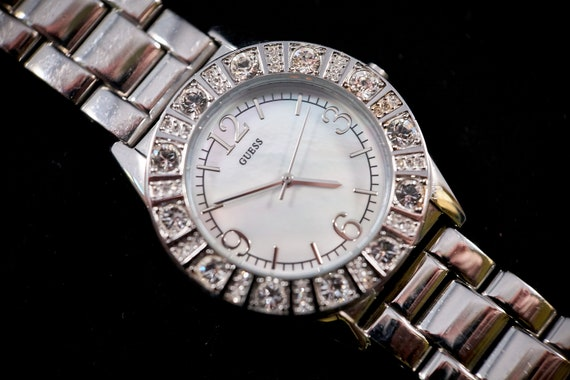 Ladies/Unisex Vintage 90s Guess Watch | Sparkling Shiny Eye Candy | Sparkly Jewels like CRAZY