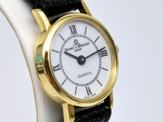 14k Gold Baume & Mercier Ladies Vintage Watch | 1980s Vintage Womens Watch | Womens Luxury Watch | Dainty Jewelry | Summer Outfit Ideas