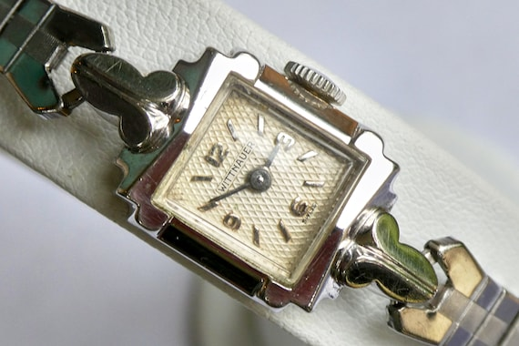 1940s Wittnauer Cocktail Watch | DAINTY + LOVELY Mid Century Wristwatch | Antique Ladies Watch | Delicate Summer Jewelry