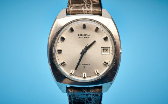 1970s Vintage Seiko Watch | Custom Italian Handmade Lizard Skin Band | FULLY RESTORED