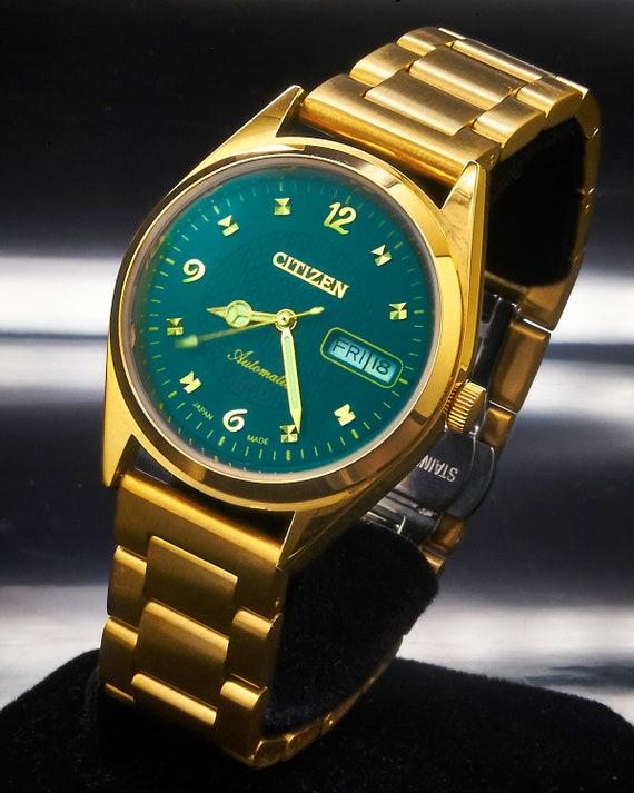 1970s Vintage Citizen Automatic Men's FLASHY GOLD