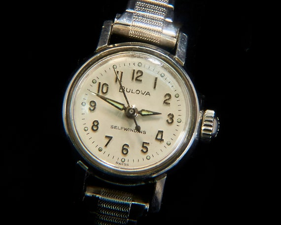 "1960s Vintage Cocktail Watch | 1966 Bulova ""Gemini"" 