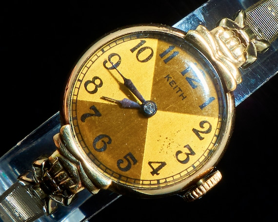 """Convertible Art Deco Necklace/Wrist Watch with Star Bracelet 