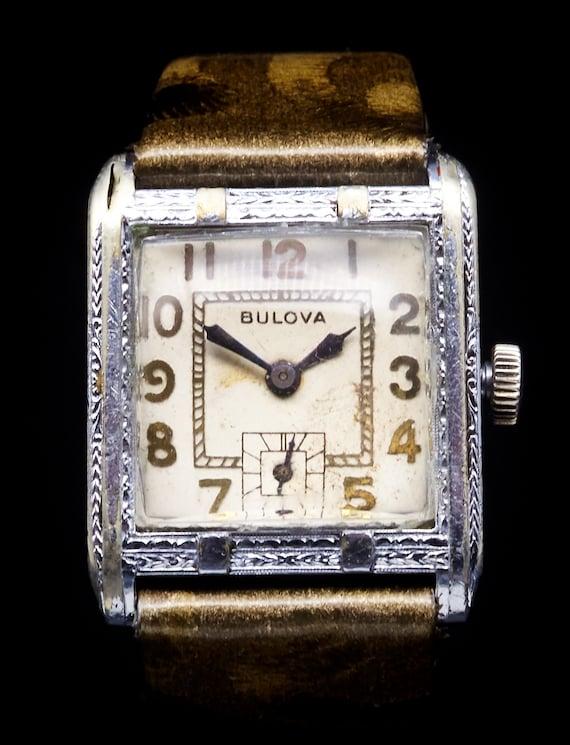 Fabulous and stately - 1929 Bulova Ambassador ladies tank watch - serviced + 6 mo warranty