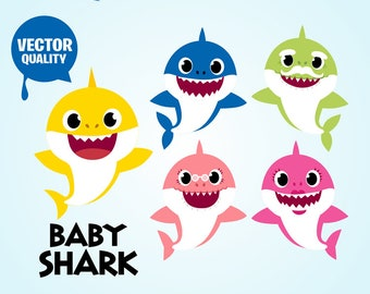 Baby shark svg Etsy