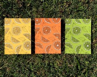Summer Citrus Card Set (3)