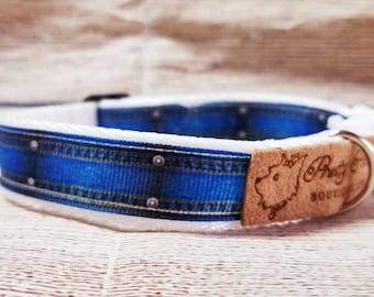 Denim-Look Dog Collar