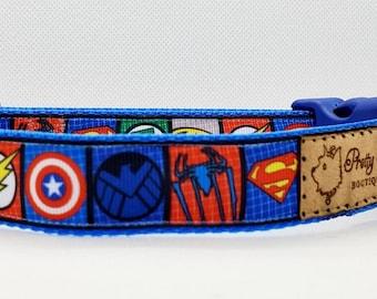 Super Hero Dog Collar