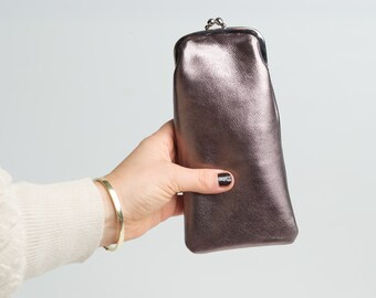small gift boho style retro style handmade Eyewear case in genuine leather
