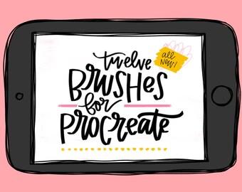 Procreate Brushes for iPad Lettering, Brush Lettering, Procreate Lettering, Lettering Brushes, iPad Brushes, Instagram Lettering