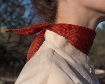 Pleated Silk Neck Scarves