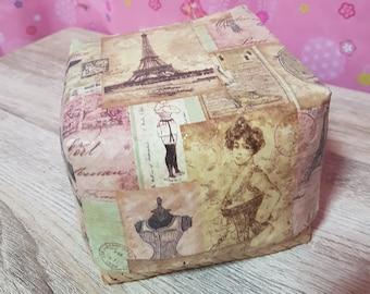 Decoupage mini bamboo box