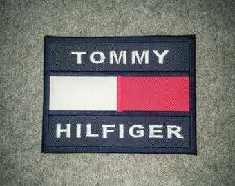 5cec1e84 Tommy Hilfiger TH85 10 x 7.5 cm Sew on Embroidery Flag Log for Cap Bag  Jacket T Shirt Craft diy Label + FREE Shipping