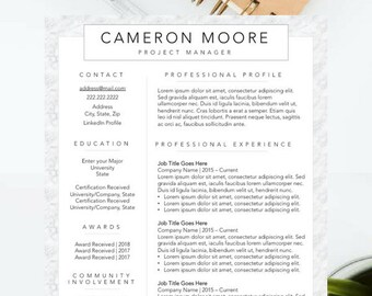 modern resume template for new professionals eye catching resume design updated resume template unique resume for job search - Eye Catching Resume Templates