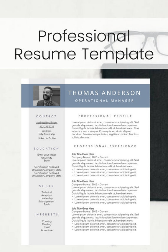 Modern Professional Photo Resume Template For Men Perfect Sales Managers And Executive Resumes