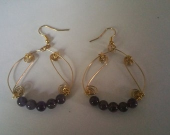 Beautiful Amythyst earrings