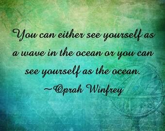 Oprah Winfrey Quote, Downloadabl