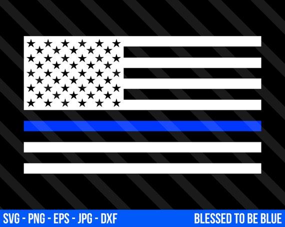 Blue Lives Matter Flag Svg Vector Png Eps Jpg Dxf Thin