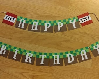 f01168674fc50 Items similar to Minecraft banner on Etsy