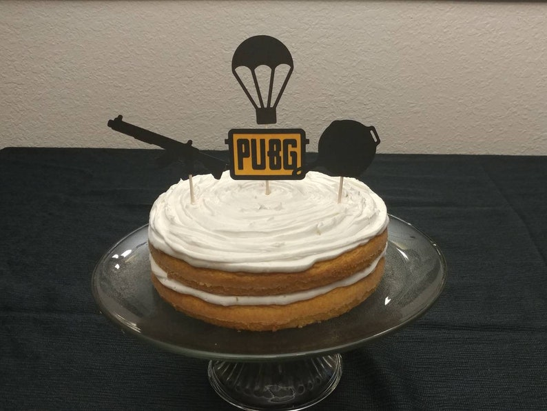 Pubg Playerunknowns Inspired Battlegrounds Cup Cake Toppers Etsy