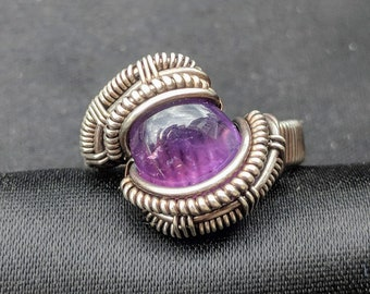 Amethyst Wire Wrap Ring