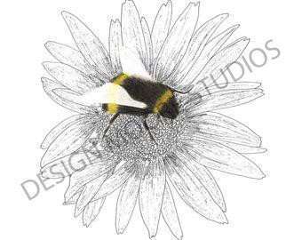 7 Bee/Flower Prints