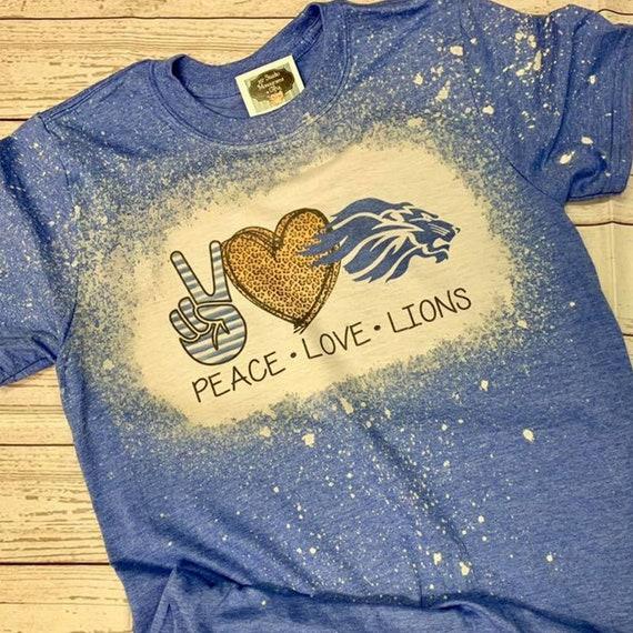 Peace Love Shirt Youth Light Weight Camp or School Spirit T-Shirt