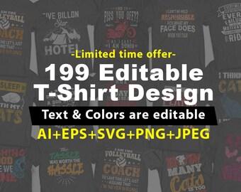 199 Editable T shirt Design