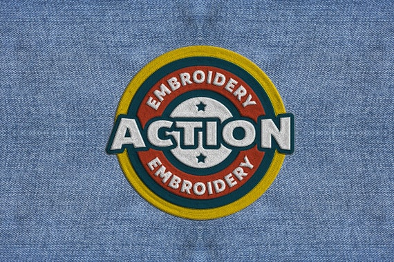 Embroidery Photoshop Action Etsy