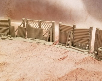 Sci-Fi, Wasteland, Apocalypse, 28mm , Barrier, Scatter terrain, Corvus Game Terrain (no figs included, size purpose only)