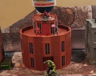 Circular Office Building , 40mm , Digital File , Marvel Crisis Protocol (Figures and other buildings not included)