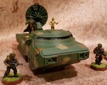 Sci-Fi Hover Truck Gun Platform, Star Wars Legion, 28mm, 3D Printed, Contact Front Games (Figures and Turret NOT INCLUDED, for example only)