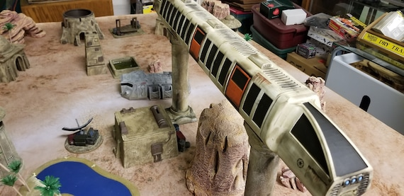 3D Printed, 28mm Sci-fi Train, Monorail, Contact Front Games