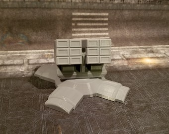 Missile Defense turret, 28mm, 3D Printed, PLA, Contact Front Games