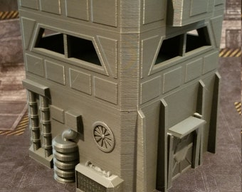 Sci-Fi Tower / 28mm / 3D Printed / PLA / Contact Front Games (figures not included for scale only)