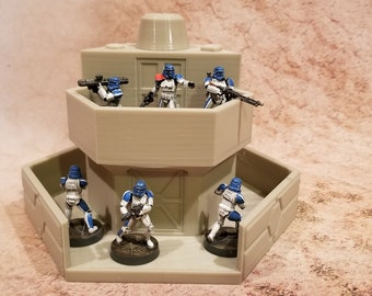 Sci-Fi Security post, 28mm, 3D Printed, Contact Front Games