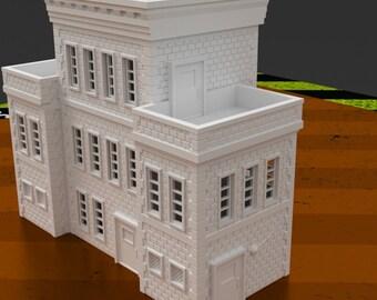 Police Station, Modern, Apocalypse, 28mm, 3D Printed, Corvus Games Terrain