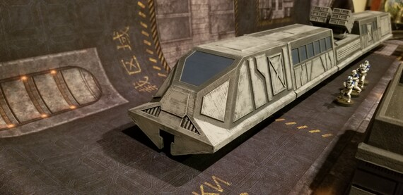 Galactic Conflict style Sci-Fi train, 28mm, Multi-piece,3D Digital File,  Contact Front Games,