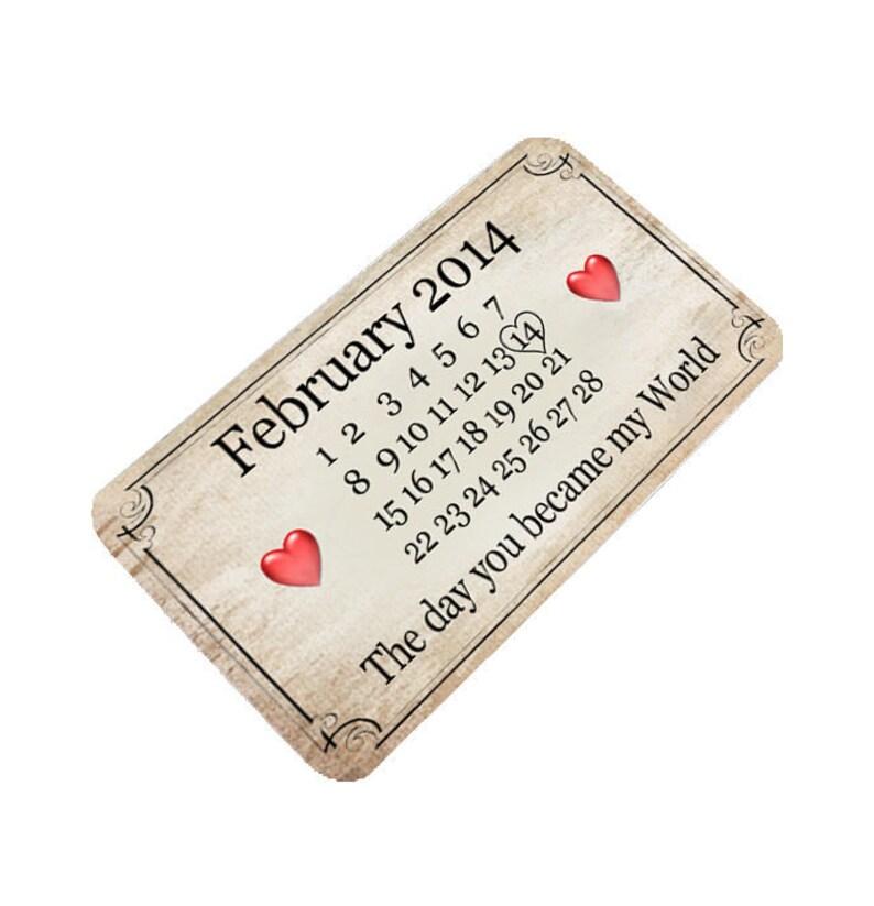 Personalised Metal Photo Wallet Purse Card Keepsake Driving Licence Gift Mum Dad