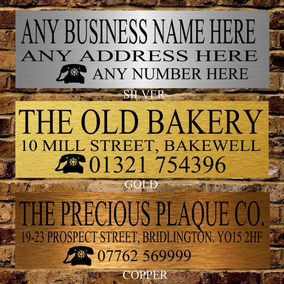 Personalised Metal Any Name Business Company Office School Door Wall Sign Plate