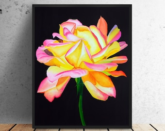 Oil Painting Flowers Etsy