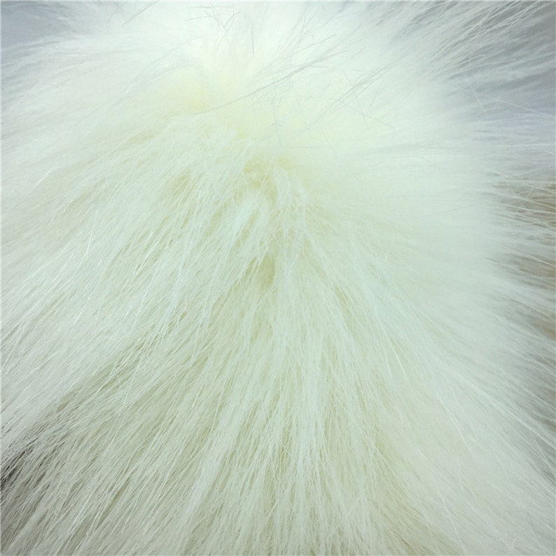 LONG PILE BRIGHT WHITE Super Luxury Faux Fur Fabric Material Teddys