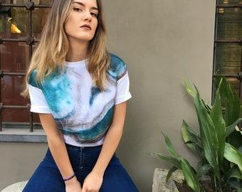 Vintage ocean pattern t-shirt