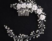 Wedding Headband Bridal Hair Jewelry Comb Bridal Headband Wedding Headpiece Silver Hair Accessories Bridal Hair Vine