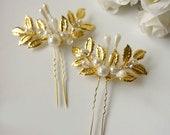Gold Hair Pin Wedding Hair Pin Wedding hair clip Bridal Gold Hair Accessories
