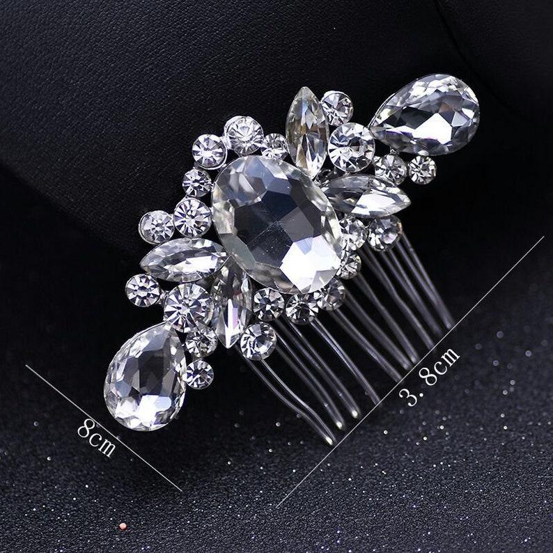 Crystal Silver Hair Comb Bridal Hairpiece Wedding Accessories Rhinestone Hair Combs Headpiece Hair Jewelry