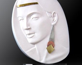 4_Daphne. Handmade cast alabaster.