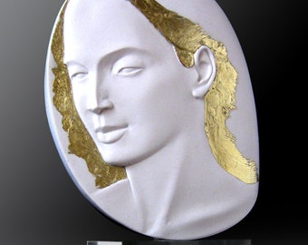 2_Daphne. Handmade cast alabaster.