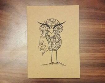 Owl mandala card