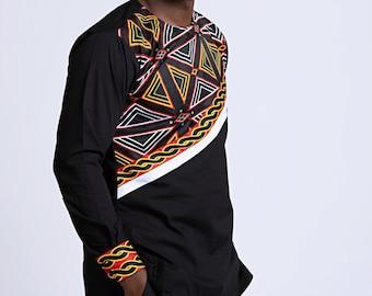 24089700b4 Toghu Bamenda African Print long sleeve men shirt / african print men shirt  / African clothing for men / gift for him / Long sleeve shirts